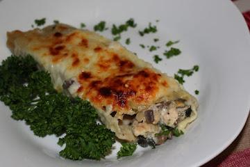 Chicken, Spinach & Mushroom Manicott Recipe