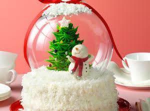 Holiday Snow Globe Cake Recipe