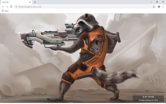 Rocket Raccoon New Tab