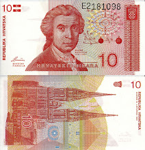 Photo: Ruggero Boscovich, 10 Croatian Dinar (1991). This note is now obsolete.