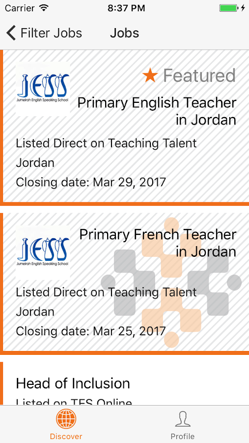 Teaching Talent - Search Jobs- screenshot