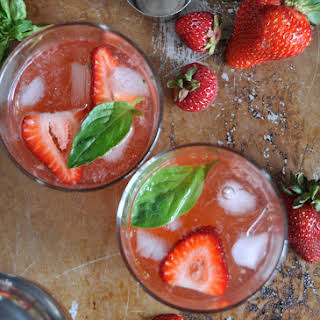 Strawberry Basil Gin Fizz.