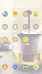 Afternoon tea time – APUS launcher theme 2