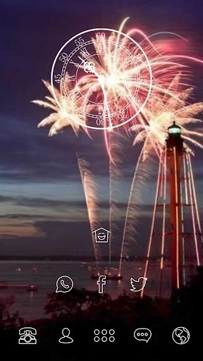 Beautiful Fireworks in Dusk