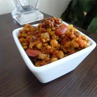 Vegetarian Bean Curry.