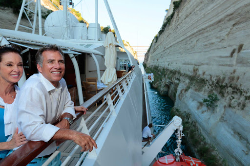 Journey as the ancients did through the Corinth Canal. SeaDream Yacht Club cruises take you there.