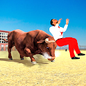Angry Bull City Rampage: Wild Animal Attack Games icon