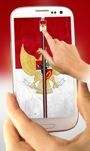 Indonesia Flag Lock Screen
