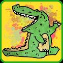 Charades. Crocodile version icon