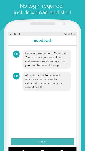 Moodpath App - Depression, Burnout & Anxiety Test screenshot for Android