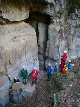 Photo: Here is one of the entrances to the upper level of Watersinks Cave and the culvert entrance to The Subway.