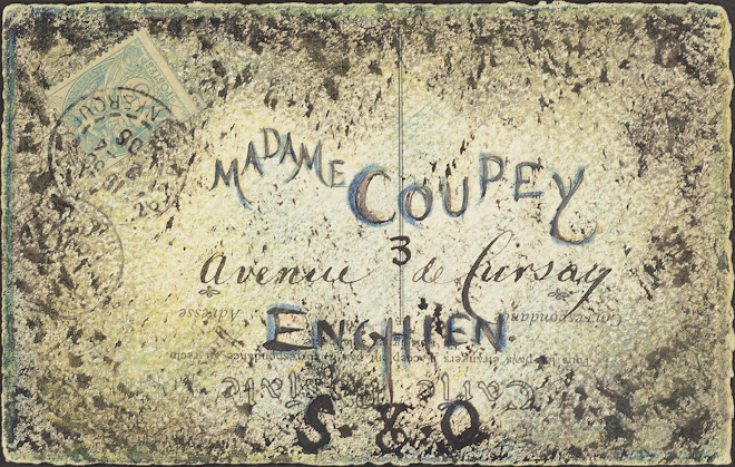 <p> <strong>L&eacute;on Coupey<br /> To Madame Coupey (Enghien)</strong><br /> Ink on card<br /> 3 &frac12;&quot; x 5 &frac12;&quot;<br /> 1906</p> <p> Collection Pierre Coupey, Vancouver<br /> Set 1.5 &nbsp;</p>