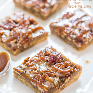 Salted Caramel Maple Pecan Pie Bars