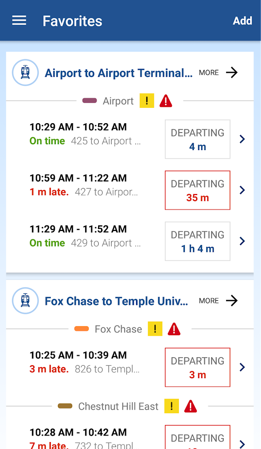 SEPTA- screenshot