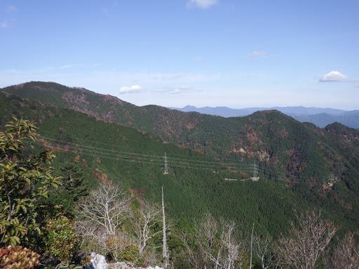 左に総門山、奥に局ヶ岳など