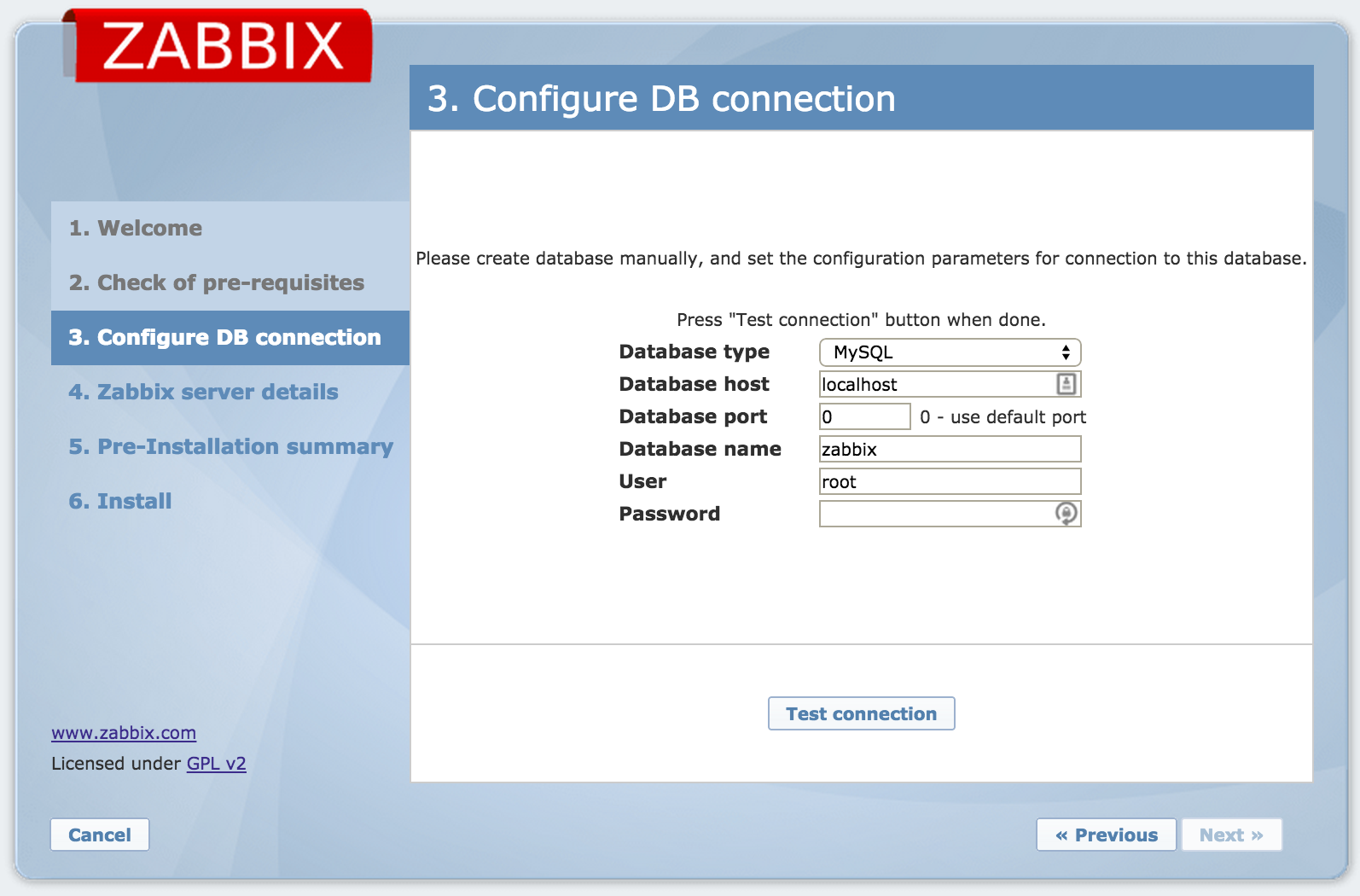 Zabbix Web Interface Installation 5