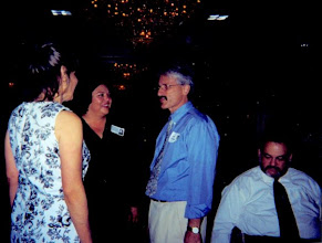 Photo: Lynn Rogers, Margy Regalado, Jeff Schloss & Bill Marcus at the 2002 Reunion