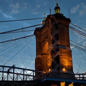 Roebling Bridge by Tiffany Bailey - Buildings & Architecture Bridges & Suspended Structures