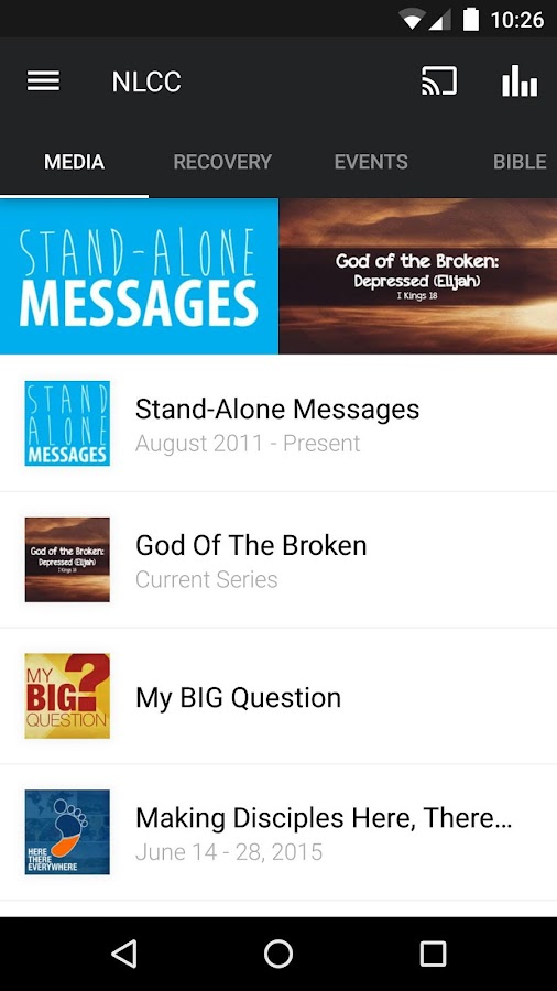 New Life Community Church App- screenshot