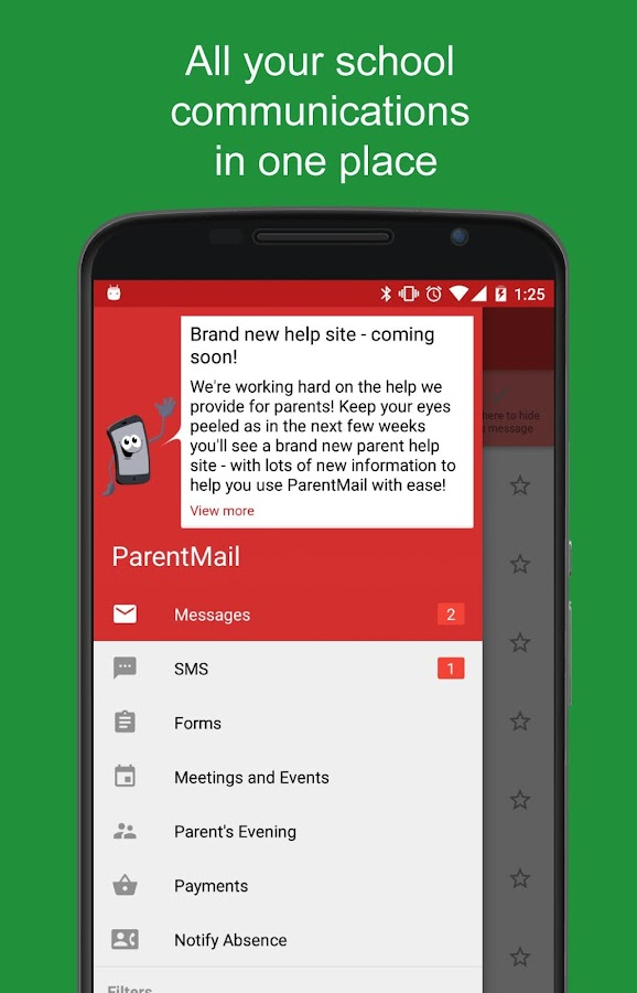 ParentMail (PMX)- screenshot