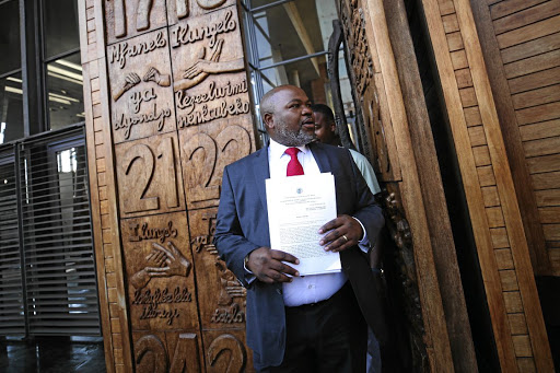 Former NPA head Mxolisi Nxasana at the Constitutional Court in Johannesburg yesterday.
