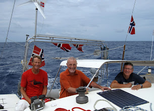 Photo: 17th May is Norwegian National Day and we are flagging as much as possible! (Stein, Andrew and Frode)