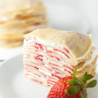 Strawberry Crepe Cake.