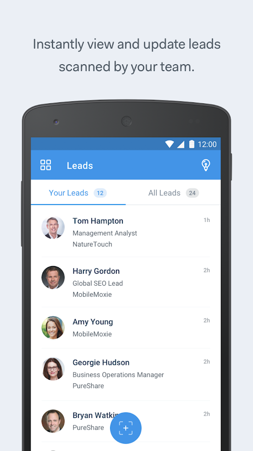 Attendify Leads- screenshot
