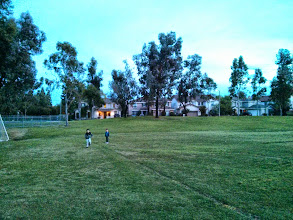 Photo: Boys in The Park at Sunset