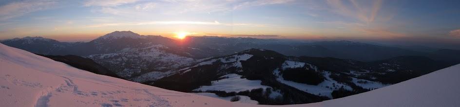 Photo: Tramonto sul Casarola e L'Alpe di Succiso visto dal Ventasso