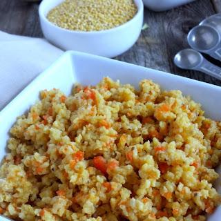 Toasted Millet Pilaf