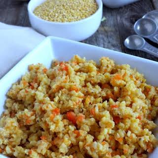 Toasted Millet Pilaf.