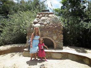 Photo: San Diego Botanical Gardens - With Auntie Caroline in the sandpit