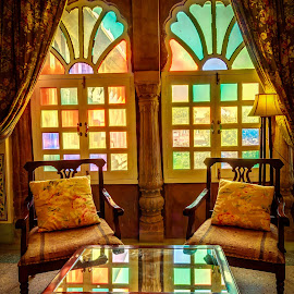 Traditional Rajasthani Furniture by Sunayan Banerjee - Artistic Objects Furniture ( chairs, rajasthan, traditional, furniture, light, room,  )