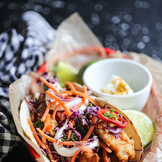Loaded Fried Chicken Curry Tacos with Ginger Aioli Recipe