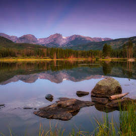 Twilight's Calm by Ken Smith - Landscapes Travel ( sunrise, rmnp, sprague lake, landscape )