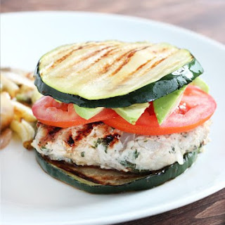 Herbed Turkey Burgers with Zucchini Buns.