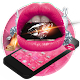 Download Glitter Pink Lips Diamond Theme For PC Windows and Mac