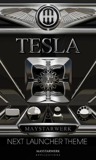 Next Launcher theme Tesla