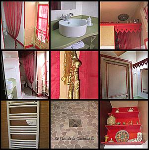 family suite bathroom at clos de la garenne french b and b near la rochelle