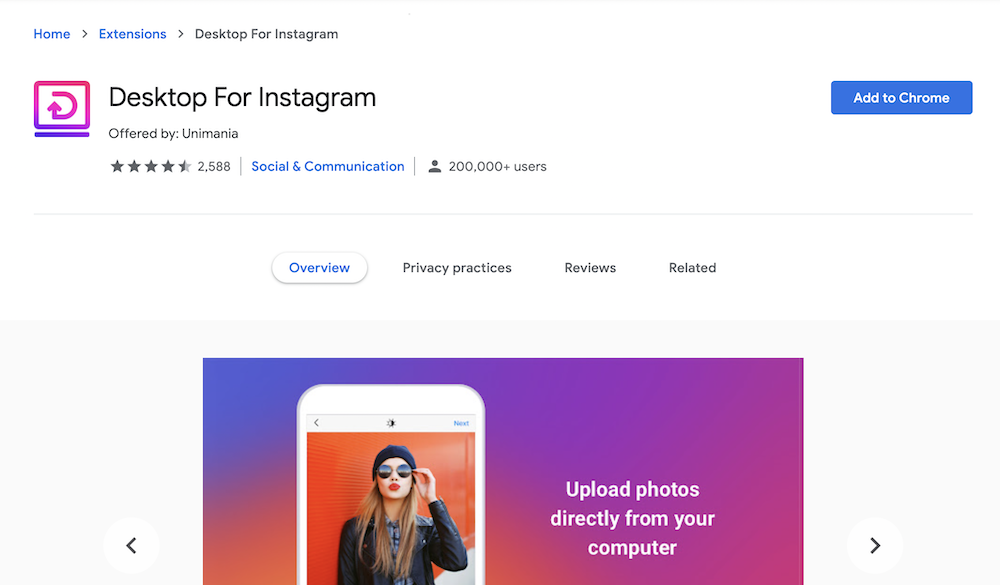 Post to Instagram From Desktop Computer Using A Google Chrome Extension