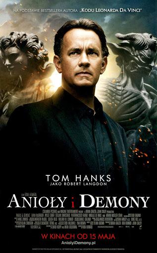 Przód ulotki filmu 'Anioły i Demony'