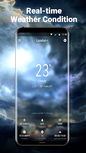 Weather Forecast with Analog Clock  screenshots 4