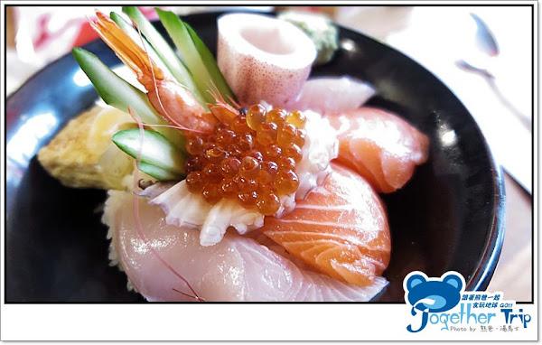 花山椒和式料理│料多實在、平價高CP值的海鮮丼在這裡喔!!! 赤身新鮮大又厚實吃起來真過癮,炙燒鮭魚豐富油脂實在太迷人│台中。北屯區
