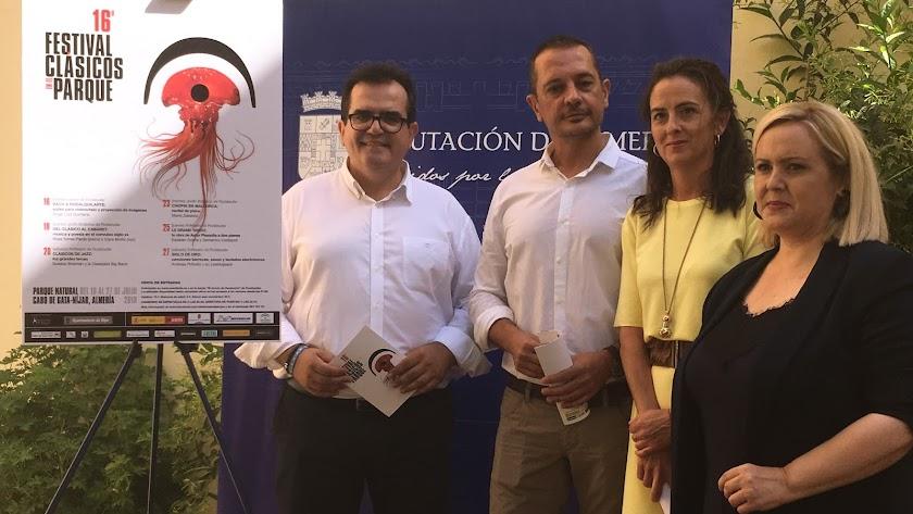 Antonio Jesús Rodriguez, Javier Rovira, Arancha Martín y Yolanda Lozano (de izq. a dcha.)
