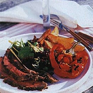 Grilled Butterflied Leg of Lamb with Lemon, Herbs, and Garlic recipe | Epicurious.com.