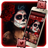 Sugar Skull Girl Mobile Theme