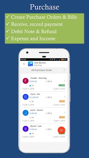 Free Invoice Inventory management app - Kite Books 3.0 screenshots 2