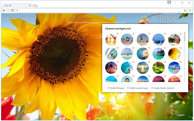 Summer Vacation Custom Beach & Sunset New Tab