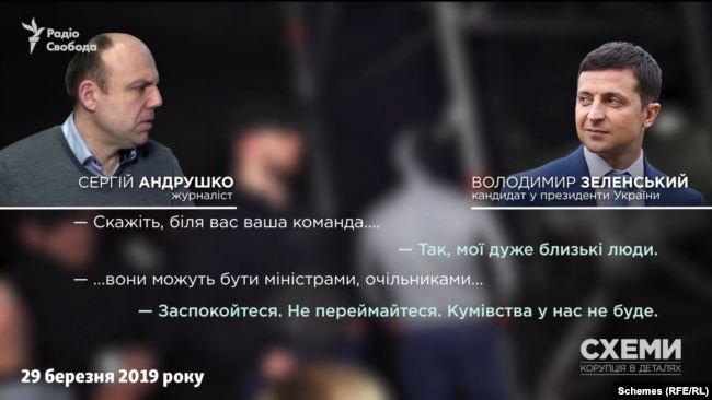«Кумівства у нас не буде», – обіцяв Зеленський у березні 2019-го напередодні виборів